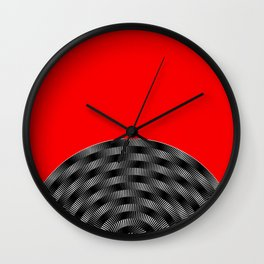 Moire Wall Clock