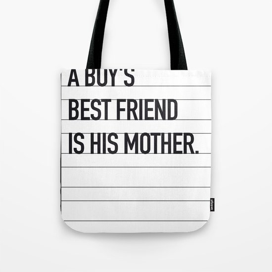 My Psycho Movie Quote poster Tote Bag