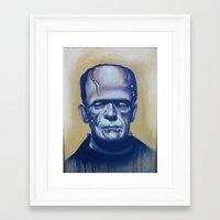 frankenstein Framed Art Prints featuring frankenstein by FlacoGarcia