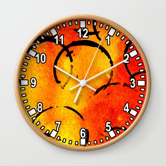 dotted Orange Wall Clock