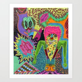 Pizza Brainz Art Print