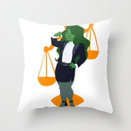 Judge, Jury, and Executioner Throw Pillow