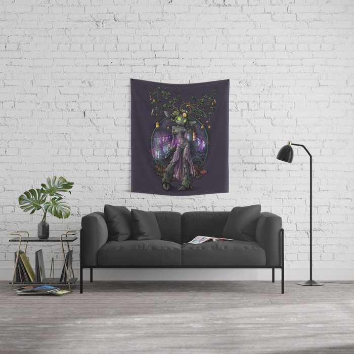 Kissiaen Priestess Wall Tapestry