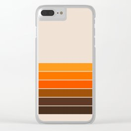 Golden Spring Stripes Clear iPhone Case