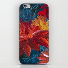 Fiery Dahlia Blossoms iPhone & iPod Skin