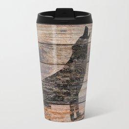 Rustic Wolf Silhouette A383 Travel Mug
