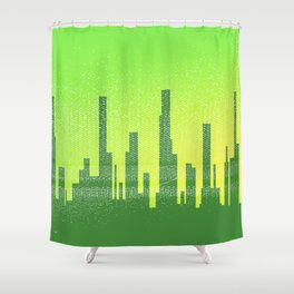 Jaded City Shower Curtain