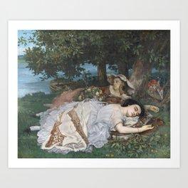 Gustave Courbet - Les Demoiselles des bords de la Seine Art Print