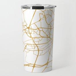 FRANKFURT GERMANY CITY STREET MAP ART Travel Mug
