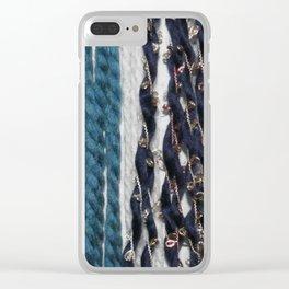 Wall Yarn Clear iPhone Case