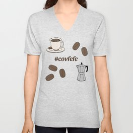 I love Coffee Unisex V-Neck