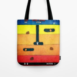 Dig Dug Unicorn Tote Bag