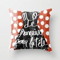 depeche mode Throw Pillows featuring MODE by Celia Sáez