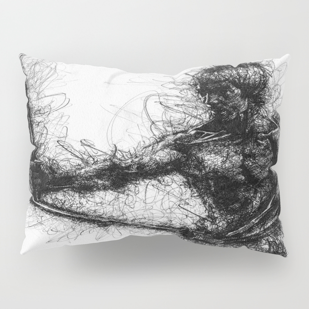Bruce Kung Fu Master Lee, Drawing, Wall Art, Kung … Pillow Sham by Juliolucas PSH8502345