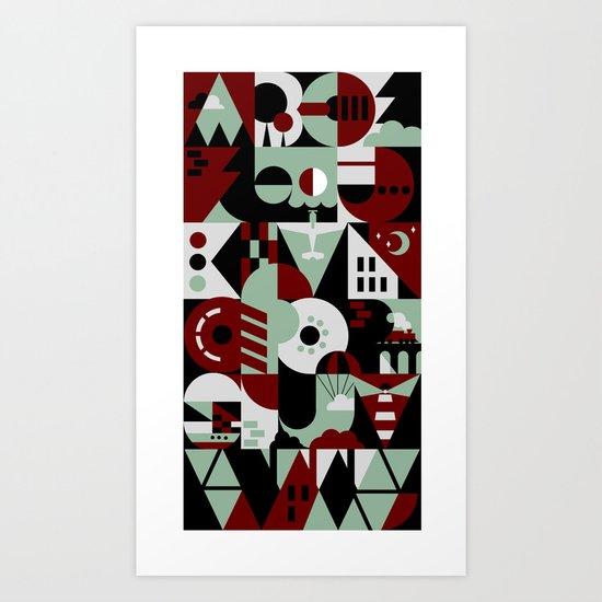 Urban Alphabet Art Print