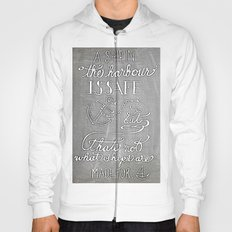 Chalkboard hand-lettered motivational quote Hoody