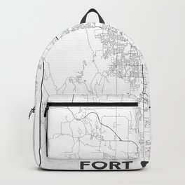Minimal City Maps - Map Of Fort Collins, Colorado, United States Backpack