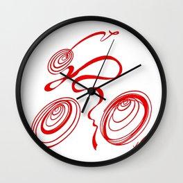 Bicycle - Red Ribbon Rider Wall Clock