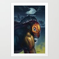 A Child of Dagon Art Print