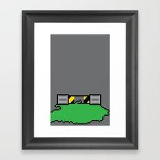 Teenage Mutant Ninja Pixels Framed Art Print