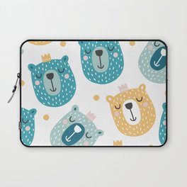 Bear Print - Prince of the Forest Laptop Sleeve
