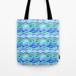 Ocean Pattern - Dolphin Tote Bag