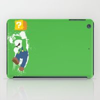 luigi iPad Cases featuring Luigi Paint by The Daily Robot