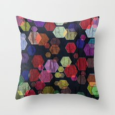 C13 construct hex v2 Throw Pillow