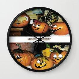Happy Harvest Wall Clock