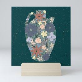 Pour Life // Botanical Jar // Floral Pitcher Mini Art Print