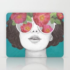 The optimist // rose tinted glasses Laptop & iPad Skin