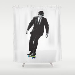 Work can wait when it's time to skate. Shower Curtain