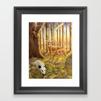 Forest Scene Framed Art Print