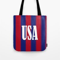 usa Tote Bags featuring USA by Caio Trindade