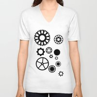 gears of war V-neck T-shirts featuring Gears by Prince Of Darkness