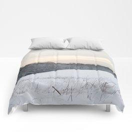 Powdered Snow Scene Comforters