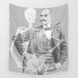 Crown Pursuit -- Black and White Variant Wall Tapestry