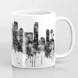 Miami Florida Skyline BW Coffee Mug