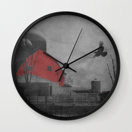 Rustic Red Barn A659 Wall Clock