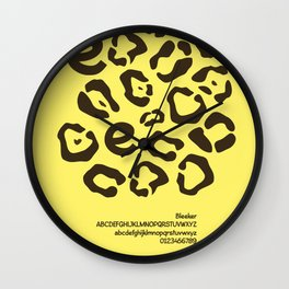 CHEETAH - FontLove Wall Clock