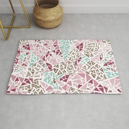 Happy lightful color Mosaic Rug