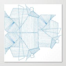 Architectural Blue Print Canvas Print