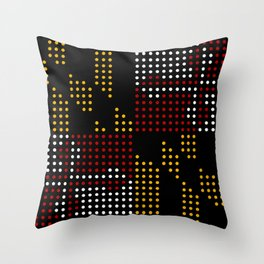 Old Dot State Throw Pillow