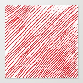 Candy Cane (The raw version) - Christmas Illustration Canvas Print
