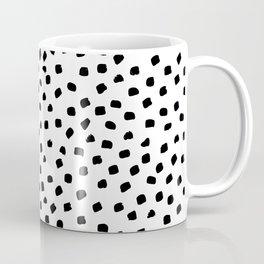 Dalmatian Dots Black White Spots Coffee Mug