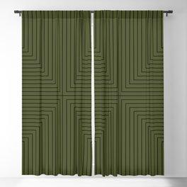 Angular Lines VI Blackout Curtain