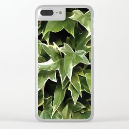 Variegated Ivy Clear iPhone Case
