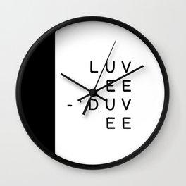 luvee-'duvee (Lovey-Dovey) Wall Clock