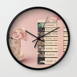 Book Stack Wall Clock