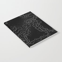 White on Black Crackle Notebook